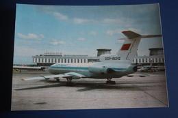 RUSSIA. LENINGRAD - ST.PETERBURG. PULKOVO International Airport - TU 134 Plane. 1980s Rare AEROFLOT Edition - Aerodromi