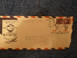 ETATS UNIS - Enveloppe Affranchie Poste Aérienne - Année 1938 - - Gebraucht
