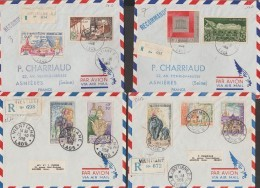 LAOS  LOT 4 LETTRE RECOMMANDE  1958+1959+1966      Ref  E682 - Laos