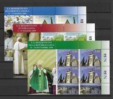 2010 MNH Vaticano Mi 1683-5 - Blocks & Kleinbögen