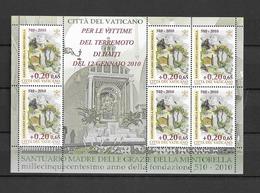 2010 MNH Vaticano Mi 1664 - Blocks & Kleinbögen