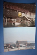 2 PCs Lot - RUSSIA. Moscow. Sheremetyevo-2 International Airport - TU 134 Plane. 1980s Rare AEROFLOT Edition - Aerodromi