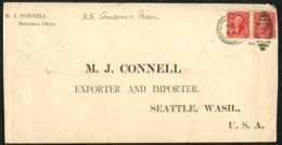 CHINA  USA Postoffice. Cover  From Shanghai To Seattle, USA Canc ' Shanghai  US Postal Agency (1) Dec 1, 1904. - China