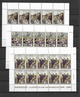 2009 MNH Vaticano Mi 1648-50 - Blocks & Kleinbögen