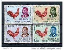 Guinea Ecuatorial 1970. Edifil 11-14 ** MNH. - Equatorial Guinea