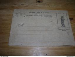Carte Lettre Double Correspondance Franchise Militaire 2 Volets Complète Jeanne D Arc / Christ Ww1 Guerre 14-18 TB RARE - Marcophilie (Lettres)