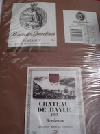 Lot 140~ étiquettes Vin Bordelais -oenographilie -issues D'une Collection Privée - Bordeaux