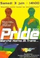 """Carte Postale édition """"Carte à Pub"""" - Lesbian & Gay Pride - Marche Homo, Bi, Trans...  - Bordeaux 2000 - Advertising"""