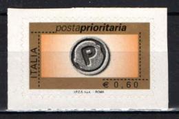 ITALIA - 2006 - POSTA PRIORITARIA € 0,60 - AUTOADESIVO - 6. 1946-.. Republic