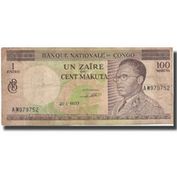 Billet, Congo Democratic Republic, 1 Zaïre = 100 Makuta, 1970, 1970-01-21 - Congo