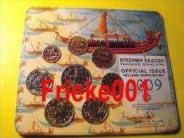 Griekenland - Grèce - Officiële Set 2009 BU Met 2 Euro Normaal. - Grèce