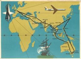 LA CARAVELLE TOUR D'AMITIE DE LA CARAVELLE AVRIL MAI 1962 ROUTES D'ASIE ET OCEANIE - Avions
