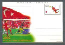 2002 TURKEY WORLD FOOTBALL CHAMPIONSHIP TURKEY'S 3RD PLACE POSTCARD - 1921-... Repubblica