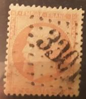 Empire Dentele No 23, 40 C Orange Obl GC 3301 De SARLAT,  Dordogne,  Belle Frappe TB - 1862 Napoleon III