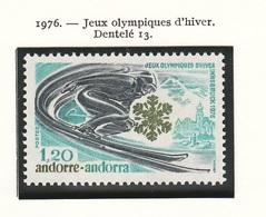 JO Innsbruck 1976 Andorre Français - Andorra Y&T N°251 - Michel N°272 *** - 1,20f épreuve De Descente - Winter 1976: Innsbruck