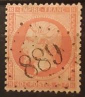 Empire Dentele No 23 B, 40 C Orange Vif Obl GC 889 De LA CHAPELLE SOUS ROUGEMONT,  Haut Rhin,  Ndice 7, Belle Frappe TTB - 1862 Napoleon III