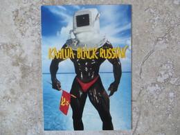 CPM Publicité Boisson KAHLUA BLACK RUSSIAN Ovni Extraterrestre Humour Drapeau Communiste - Advertising