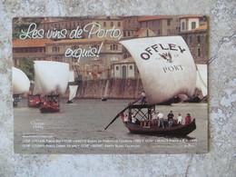 CPM Publicité Alcool Vins De Porto Offley Port Barge Avec Tonneaux 1995 - Advertising