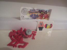 Kinder Surprise Deutch 1998 : N° 617008 + BPZ + Stickers - Steckfiguren