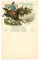 Lettre Militaire De Correspondance.vierge.illustrée.4 Pages.cavalerie Légère.chasseur à Cheval.illustrateur Signé. - Dokumente
