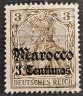 GERMAN OFFICE IN MAROCCO 1905 - Canceled - Mi 34 - 3c - Bureau: Maroc