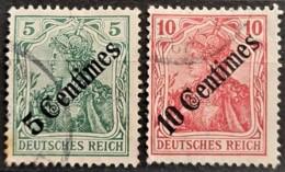 GERMAN OFFICE IN MAROCCO 1908 - Canceled - Mi 48, 49 - 5c 10c - Bureau: Maroc
