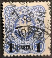 GERMAN OFFICE IN TURKEY 1884 - Canceled - Mi 3 - 1P - Bureau: Turquie