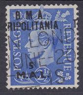 BRITISH OCC. Tripolitania Variety Shifted Overprint, Used - Tripolitaine