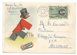 XW 2188 Cartolina Pubblicitaria - Roll Film Ferrania - Illustrazione Illustration Affrancatura Vaticano / Viaggiata 1955 - Advertising