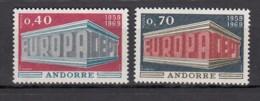 € Andorre 194 / 195 Europa CEPT 1969 ..Carlemany Napoleeo .. ** SC MNH .. Cote 40.00 € - Europa-CEPT