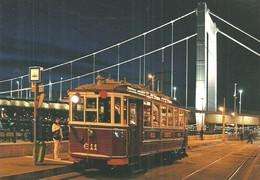 TRAM * NOSTALGIA TRAMWAY * RAIL * RAILWAY * RAILROAD * BKV * BUDAPEST * ELISABETH BRIDGE * Top Card 0497 * Hungary - Tramways