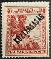 HUNGARY 1918 - MNH - Sc# B60 - 40f - Ongebruikt