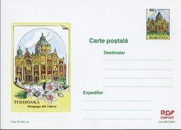 SYNAGOGUE  TIMISOARA   Carte Postale (Entier Postal)  - Roumanie / Romania 2000 - Moskeeën En Synagogen