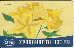 GREECE - Flower, OTE Prepaid Card 13 Euro, Tirage 75000, 02/02, Used - Flowers