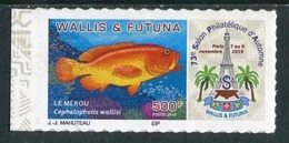"""TIMBRE Adhésif ** De 2019 En Bord De Feuille De WALLIS ET FUTUNA """"73e SALON PHILATELIQUE D'AUTOMNE - LE MEROU"""" - Unused Stamps"""