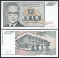 Jugoslawien - Yugoslavia 10 Millionen Dinara 1993 Pick 122 UNC (1)    (26412 - Joegoslavië