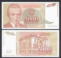 Jugoslawien - Yugoslavia 5000 Dinara 1993 Pick 128 UNC (1)    (26409 - Joegoslavië