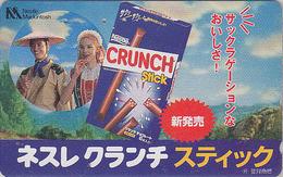 Télécarte Japon / 110-011 - NESTLE - CHOCOLAT CRUNCH - CHOCOLATE FOOD Japan Phonecard / Switzerland Rel. - 96 - Japan