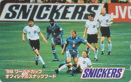 TC JAPON / 110-016 - Sport FOOTBALL / ENGLAND GERMANY Pub Snickers Chocolat Chocolate - SOCCER & Food JAPAN Phonecard - Japan
