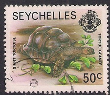 Seychelles 1977 QE2 50ct Marine Life Used SG 410a ( G953 ) - Seychellen (...-1976)