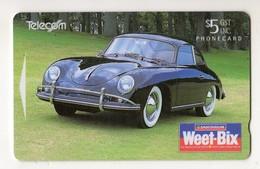 NOUVELLE ZELANDE TELECARTE PORSHE 356A COUPE 1957 - Cars