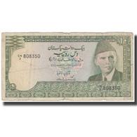 Billet, Pakistan, 10 Rupees, KM:34, B+ - Pakistan