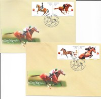 Ukraine 2006 MiNr. 817 - 820 Pferdesport  Horses  2 FDC  2,80 € - Ukraine