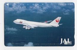 JAPON TELECARTE AVION JAL BOEING 747 - Airplanes