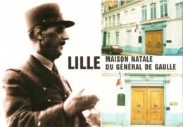 CPM 59 (Nord) Lille - Maison Natale Du Général Charles De Gaulle TBE - Politieke En Militaire Mannen