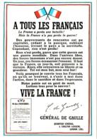 CPM L'Appel Du 18 Juin 1940 à Tous Les Français Par Le Général Charles De Gaulle TBE - Politieke En Militaire Mannen