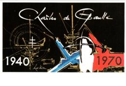 CPM Timbre De G. Mathieu Anniversaire De L'Appel Du 18 Juin 1940 Et Mort Du Général Charles De Gaulle En 1970 TBE - Politieke En Militaire Mannen