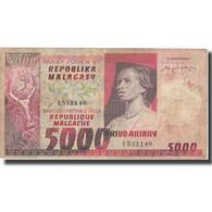 Billet, Madagascar, 5000 Francs = 1000 Ariary, KM:66a, TB - Madagascar