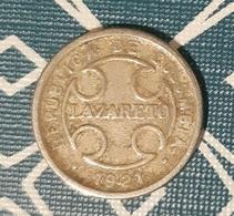 Colombia - 2 Centavos - 1921 - VF - Leper Colony / Léproserie / Lazareto - RARE!!! - Colombia
