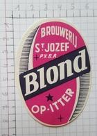 ETIQUETTE  BROUWERIJ SAINT JOZEF OP-ITTER BLOND - Bier